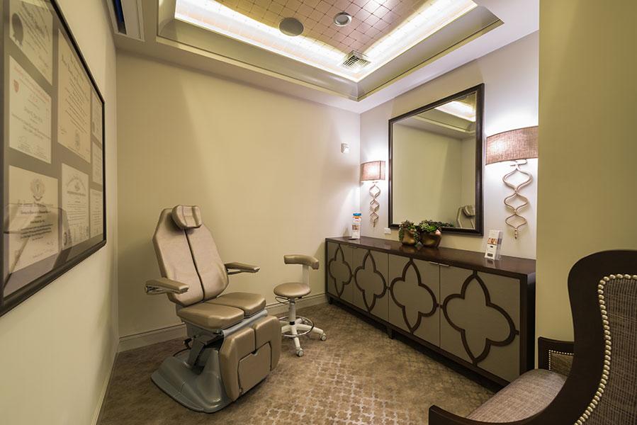 PHOTO: A consultation room at SKY Facial Plastic Surgery.