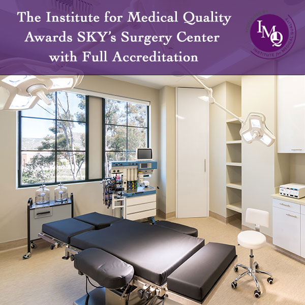 PHOTO: SKY Facial Plastic Surgery's operating room with IMQ seal of accreditation
