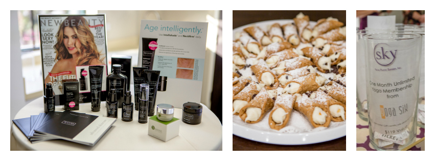 PHOTO COLLAGE: Revision skincare, food, raffle prizes.