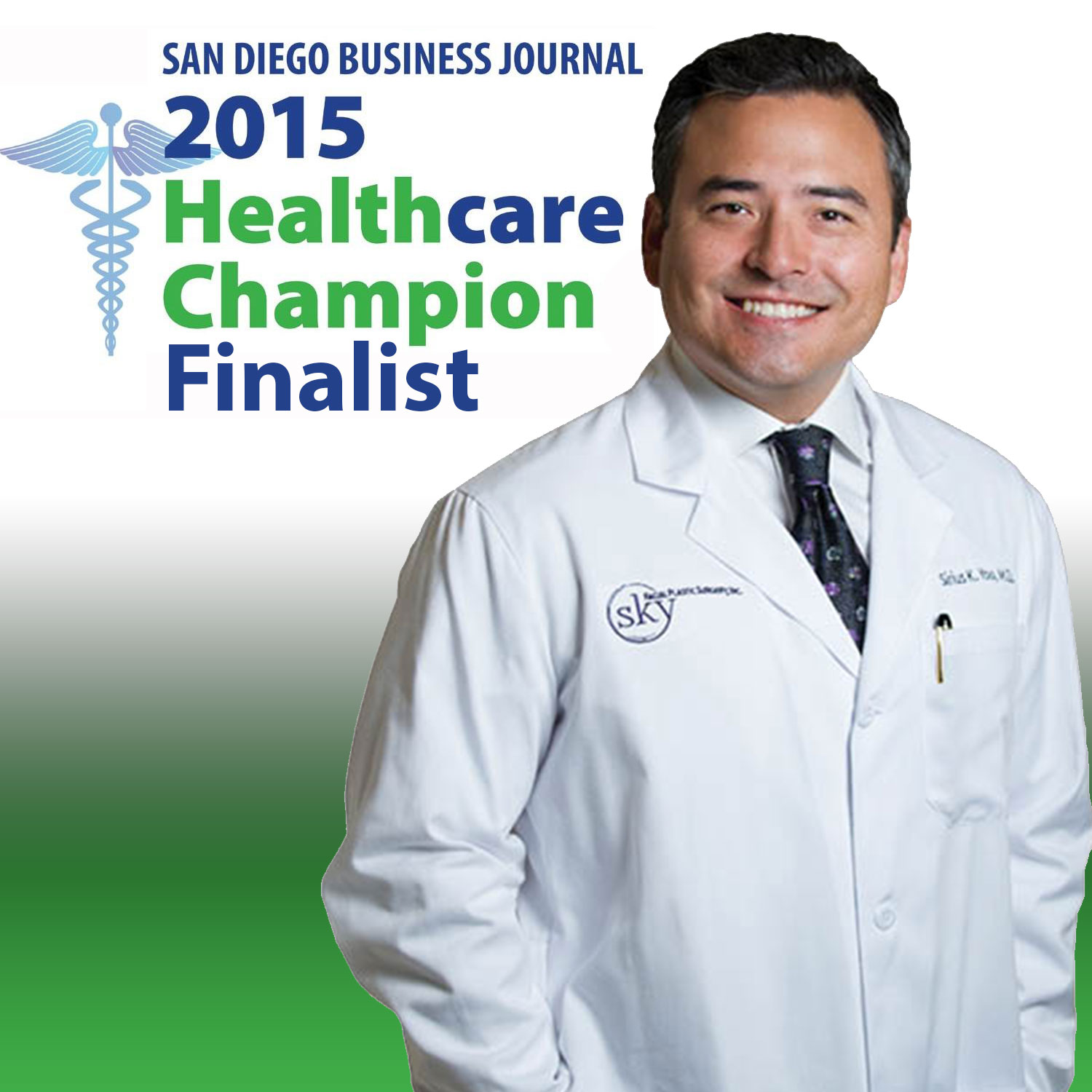 PHOTO: Sirius K. Yoo, M.D. named 2015 Healthcare Champion finalist by San Diego Business Journal