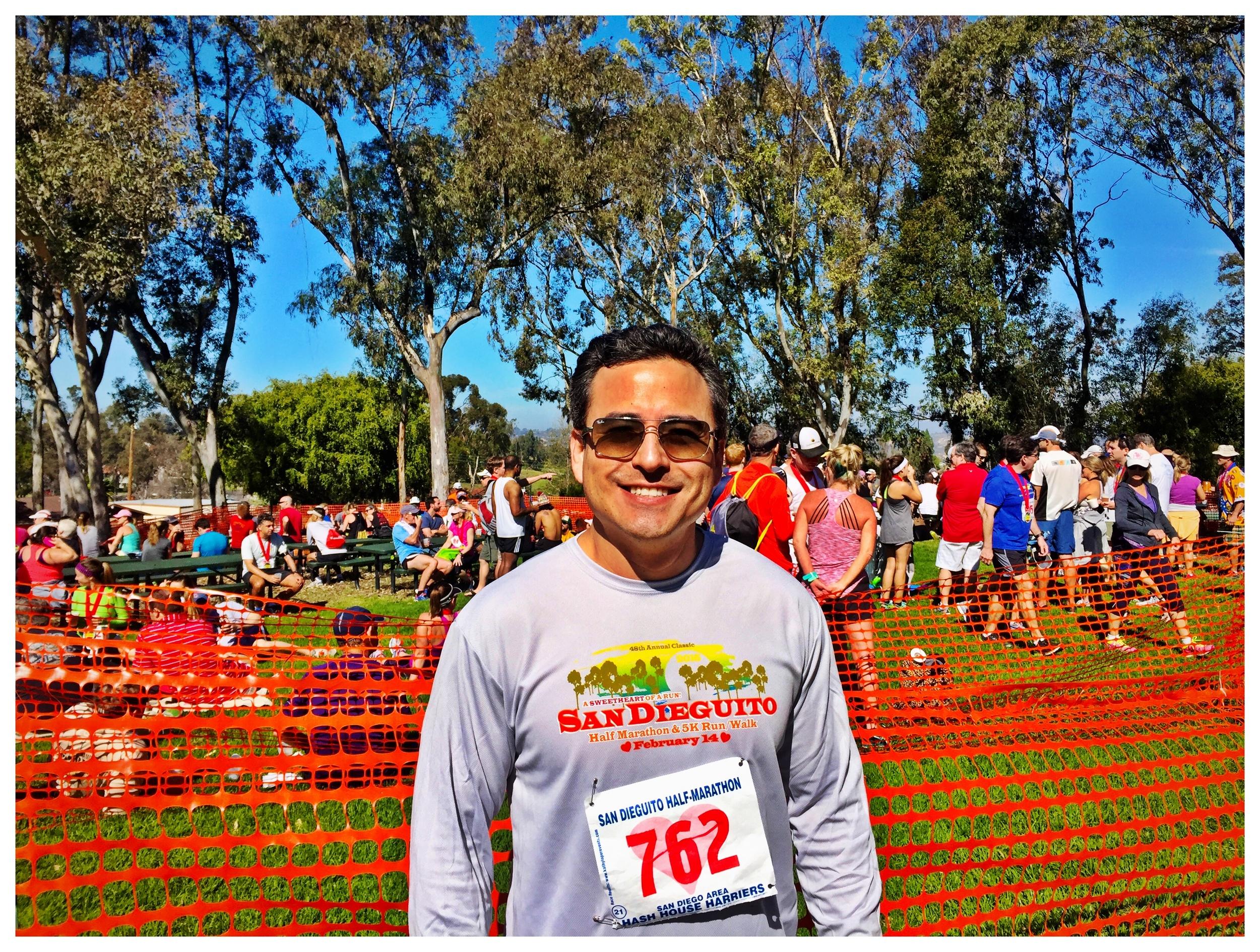 PHOTO: Dr. Yoo runs the San Dieguito Half Marathon.
