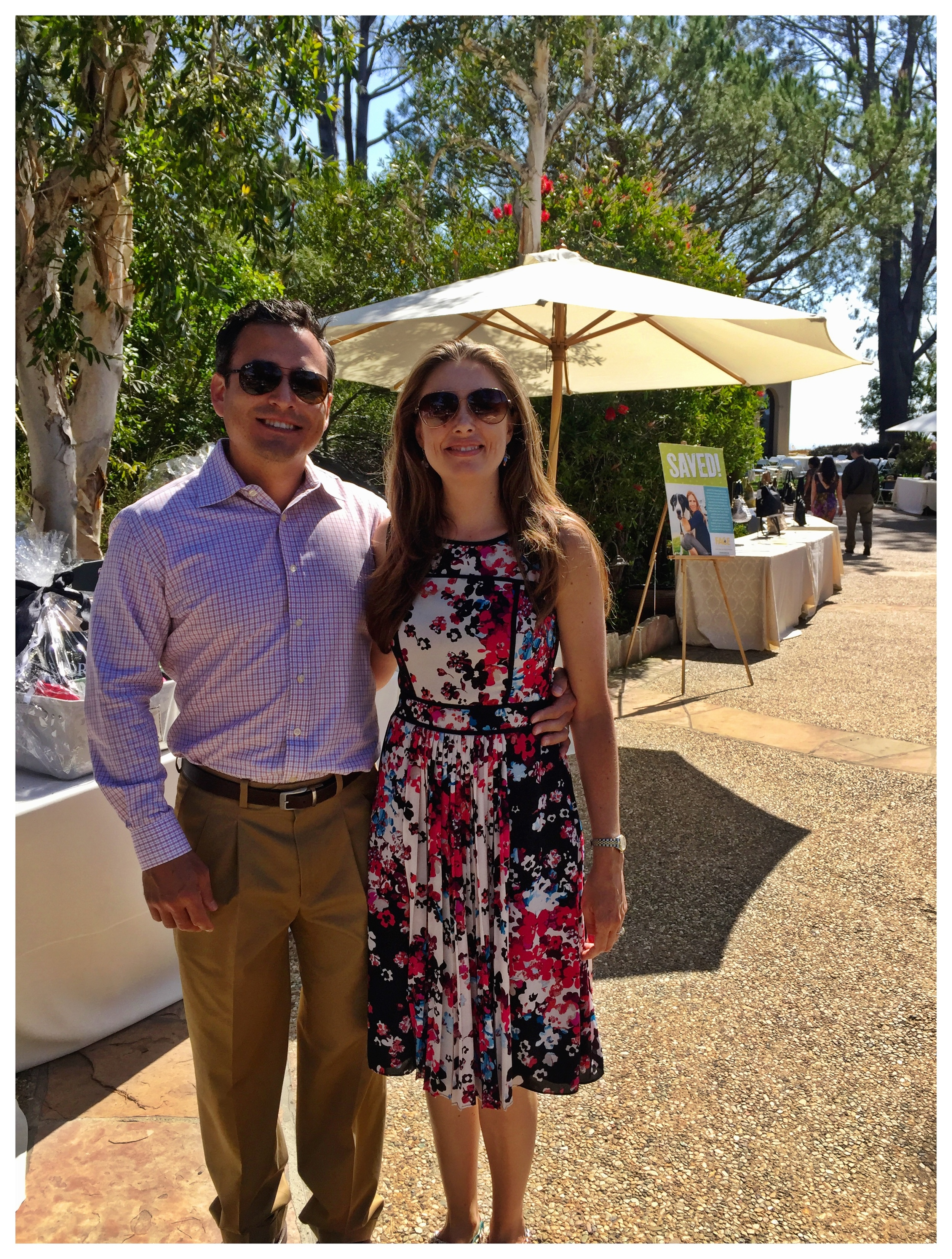Sirius K. Yoo, M.D. and Amber at the 6th annual Bags & Baubles fundraiser for the FACE Foundation, held in Rancho Santa Fe.