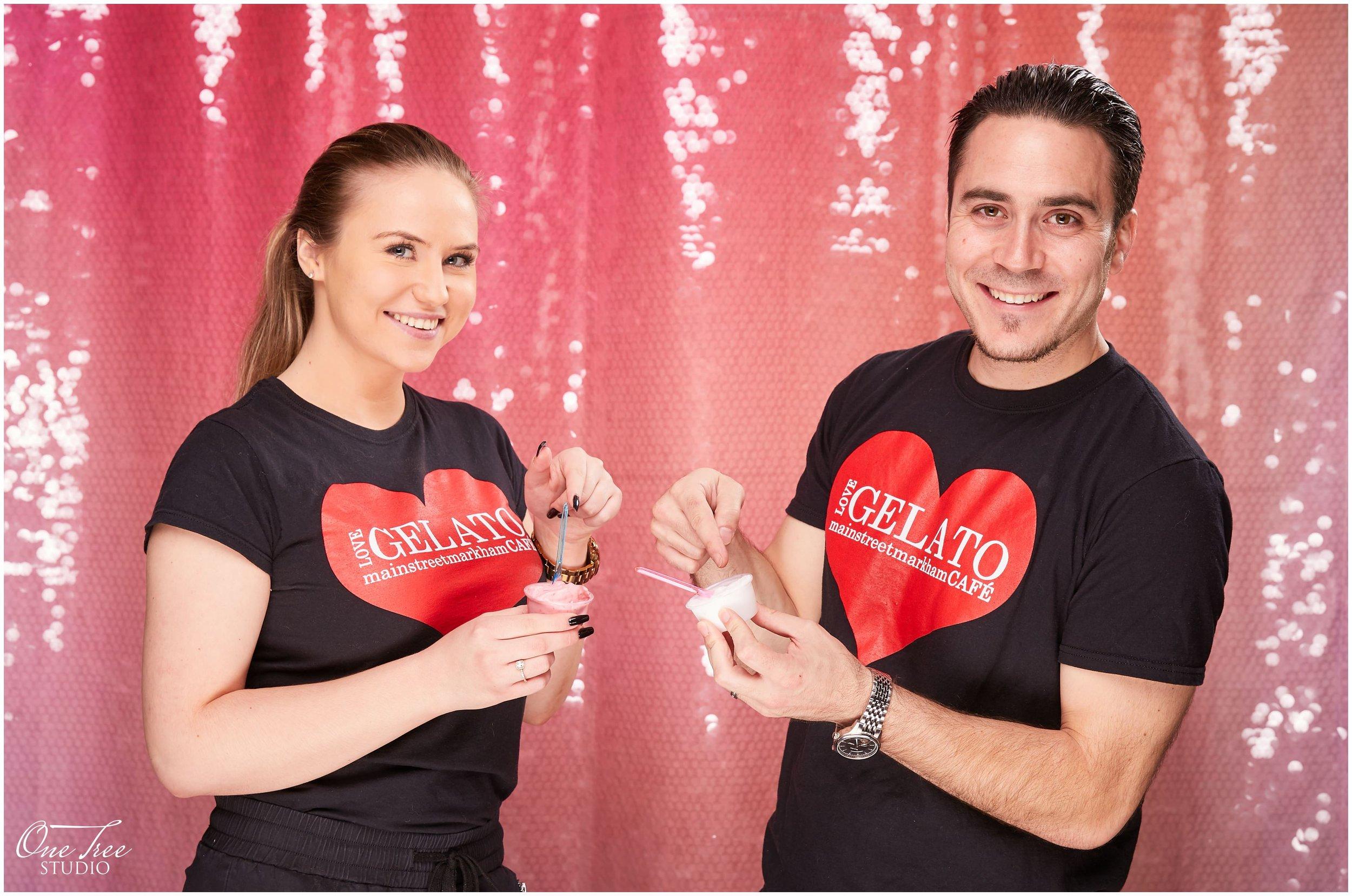 Love Gelato at Markham Stouffville Hospital's Portrait Photo Booth