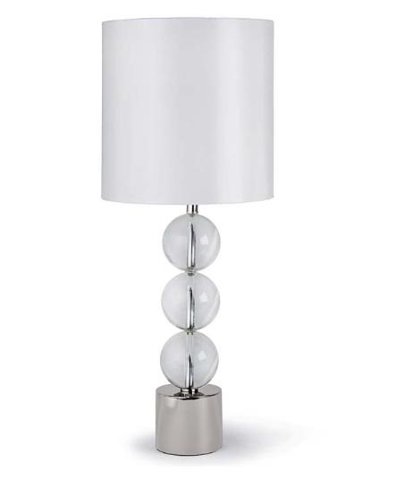 """Triple Crystal Orb Lamp   36.5""""h   RD5 -7103"""