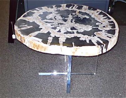 Petrified Teak Wood on Acrylic Base   20-24dx19h   VO115AA