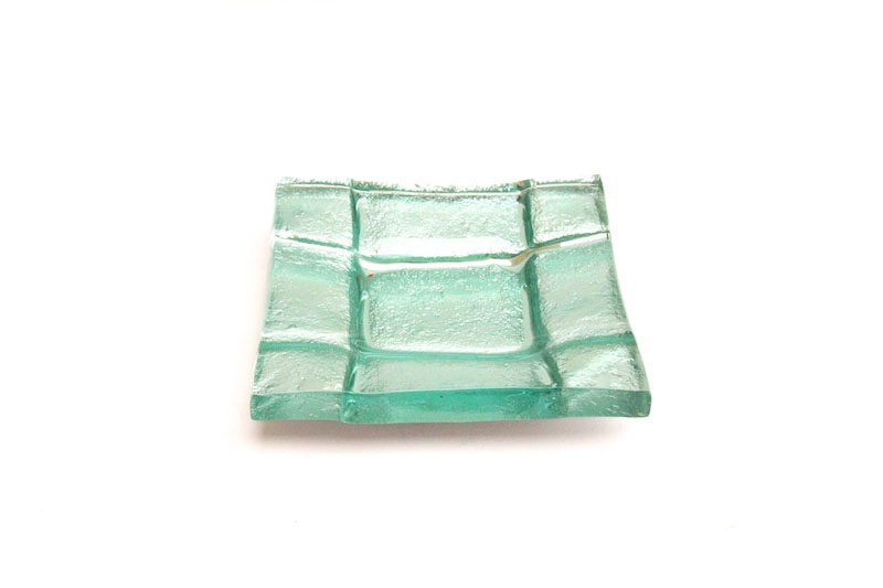 "Square Mini Glass Bowl in Silver   8sqx1.5""h   RL347SS"