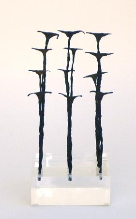 Kissi Pennies, Sierra Leone on Acrylic Base   4×4x8h   AF053DD
