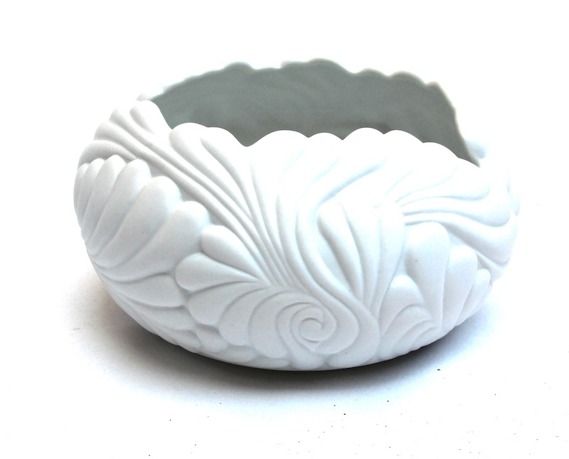 "Porcelain Flamingo Bowl   7×4""h   BUPFMV"