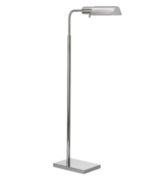 "Studio Adjustable Tent Floor Lamp  in Polished Nickel  34-45""h   VC91025PN"
