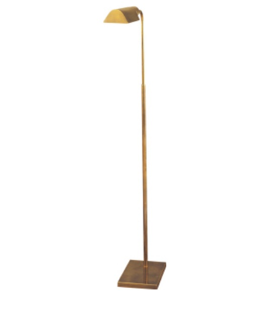 "Studio Adjustable Light Floor Lamp in Hand-Rubbed Antique Brass   34""-45""   VC91025HAB"