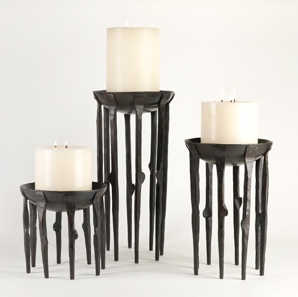 """Bothwell Candlestand Metal  9.5dx9""""h GV7.90139  9.5dx14""""h GV7.90138  9.5dx19""""h GV7.90137  Candles Sold Separately"""