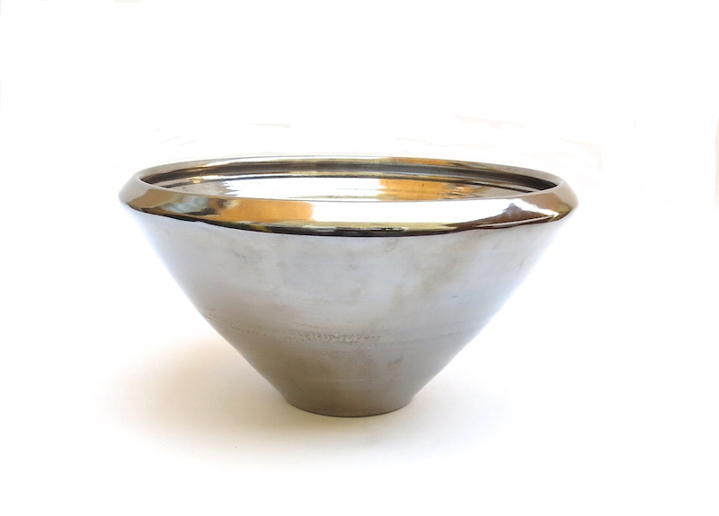 COPENHAGEN V BOWL WITH PLATINUM GLAZE