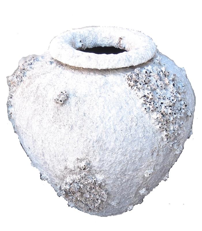 Terracota Barnacle Urn   32x35H  QI061