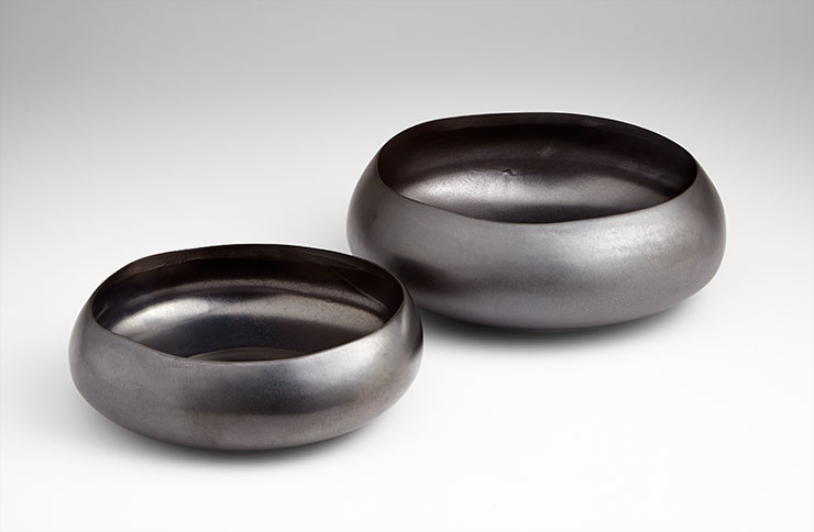 Ceramic Bowl with Gunmetal Glaze