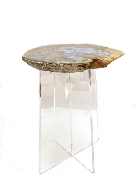 Agate/Acrylic Spot Table