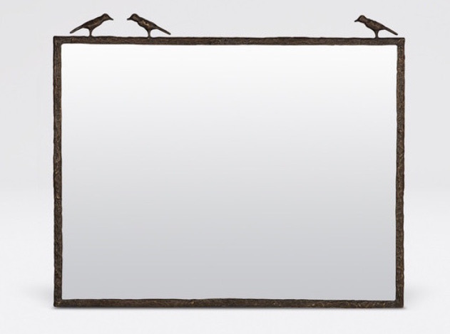 3 Sparrow Horizontal Mirror Bronze