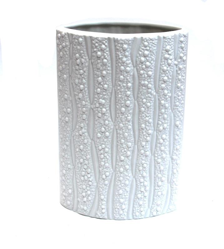 Porcelain Bitter Melon Vase   7×10.5h   BUPBM