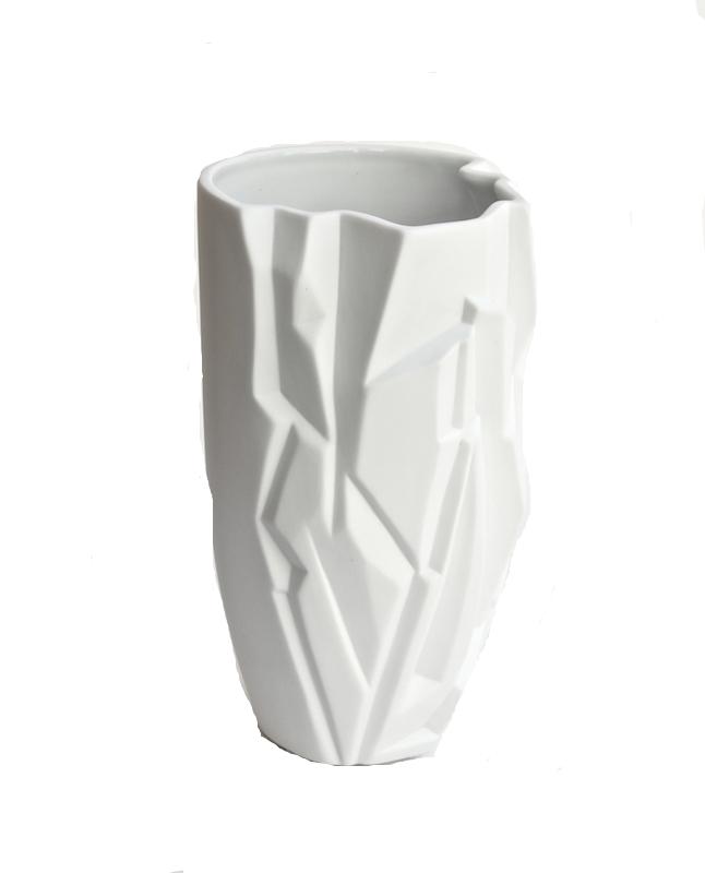 """Porcelain Glacia Vase  5.5×10""""h BUGLACI"""