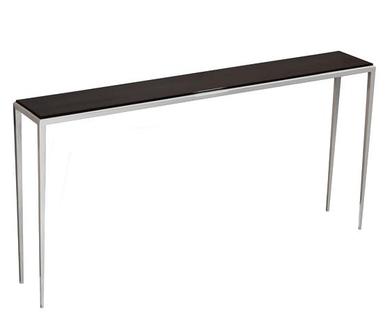 Ebony/Polished Nickel Thin Sofa Back Console  60x10x30h  IH135092