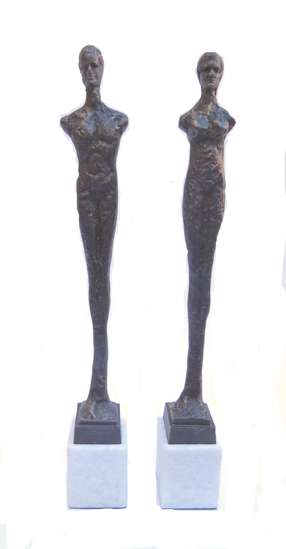 PAIR OF CONTEMPO STATUES