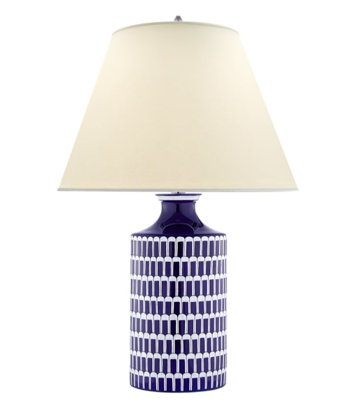 "Wells Porcelain Blue and White Table Lamp   31""h    VCAH3115BW"