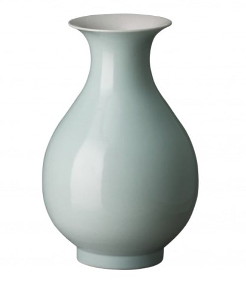 Ceramic Pe Pa Vase, Misty Blue   8.5dx14h   EY4027MB