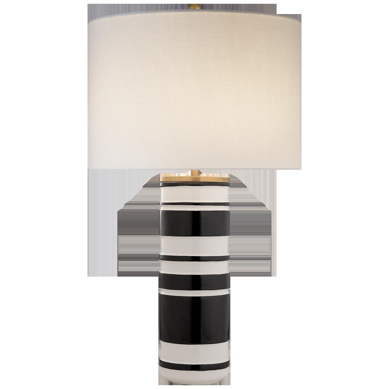Ceramic Cylinder Table Lamp, White/Black  18dx30h  VCKS3040WL/BKL