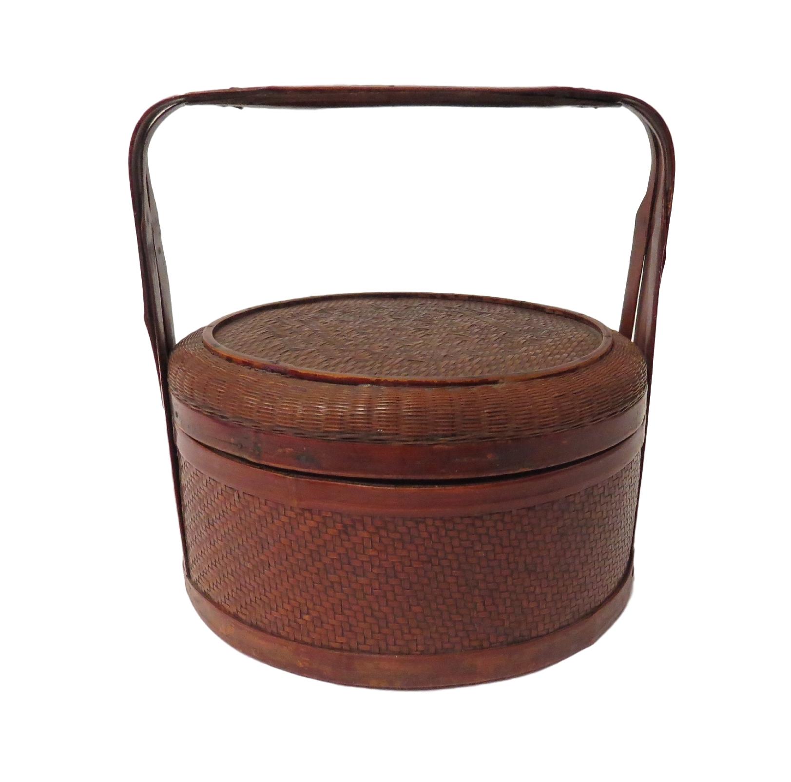 Vintage Chinese Food Basket  14dx14h  OP208