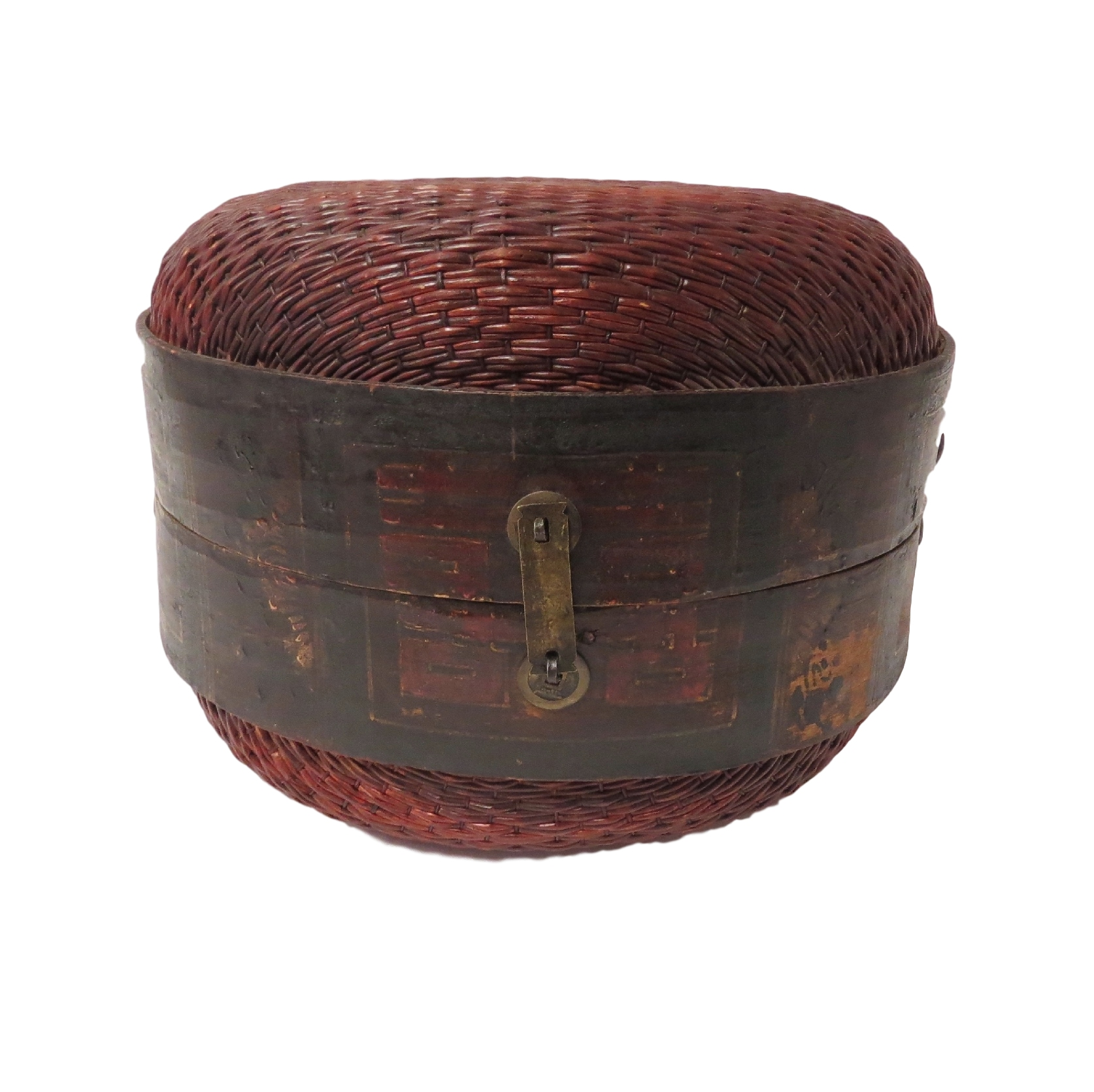 Vintage Thai Hat Box  14dx11h  OP088