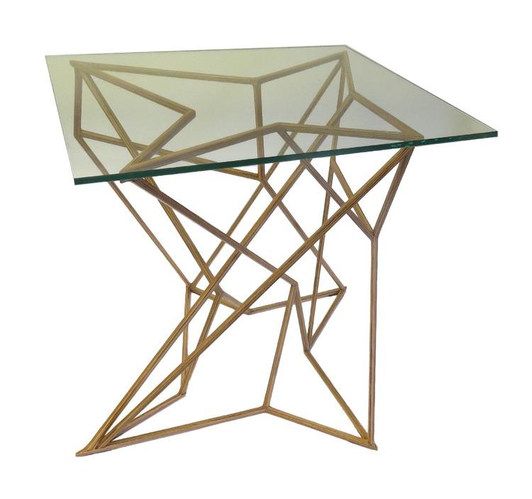 Bob Side Table, faux bois  24.5x22x24h  RLTB033