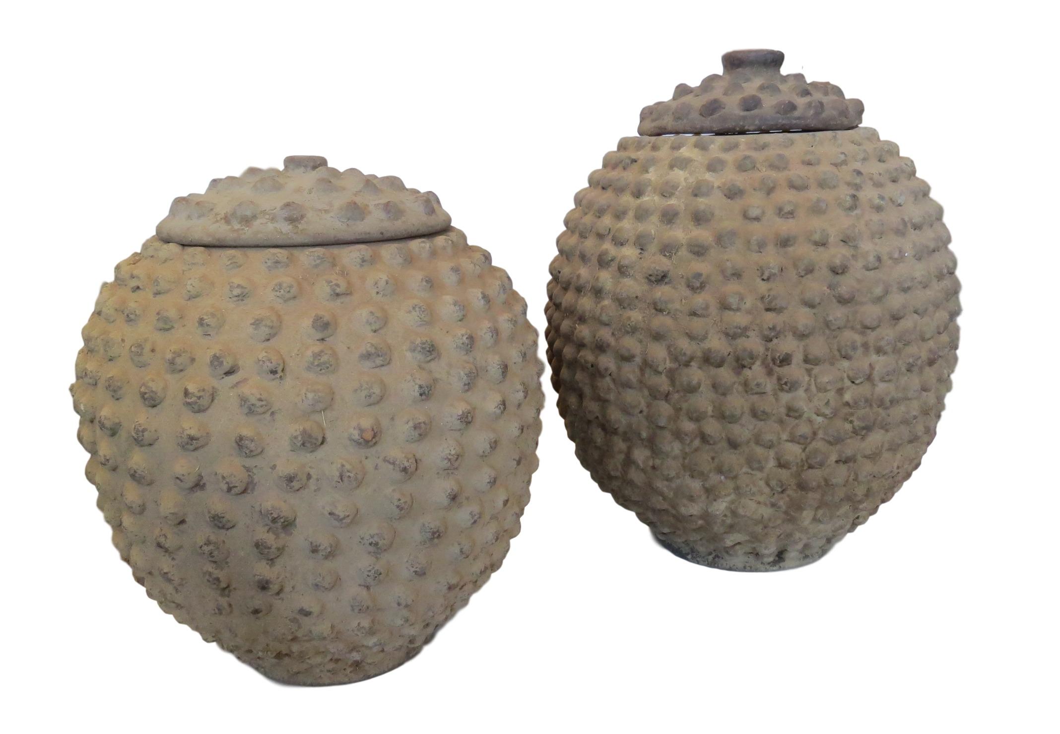 """Vintage Lobi Pot w/Lid, Bukina Faso  10-12""""d x 13-16""""h  AF168"""