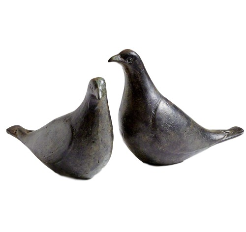 "Pair of Doves, Oiled Bronze  3x5.5-6.5""h  GV7.80435"