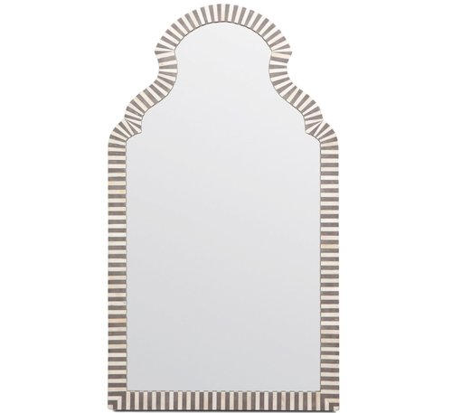 Bone Resin Arch Mirror 27wx48h MGJONAH