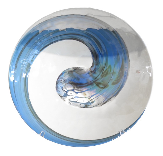 Murano Glass Pavone Plate  20dx4h  MB58176