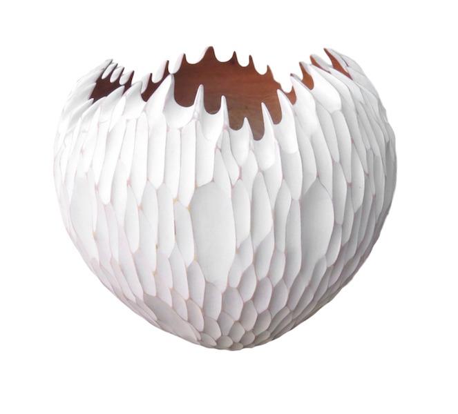 """Tamarind Stunning Organic Bowl, Whitewash  11dx7""""h  BUIISOB"""