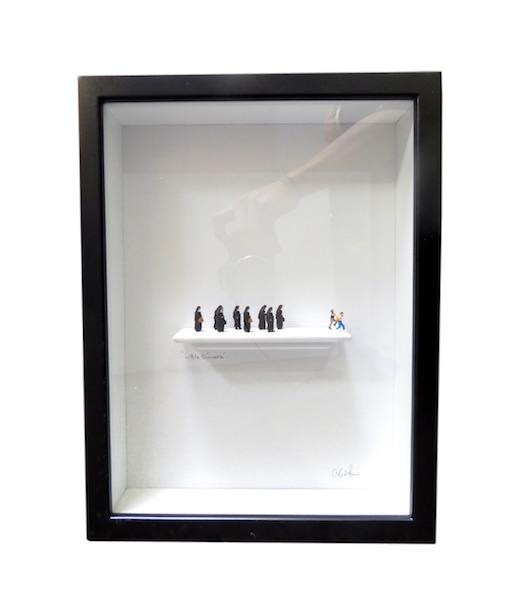 """C. Schukow,""""Little Sinners""""  Diorama 10x2.5x13h  CX001"""