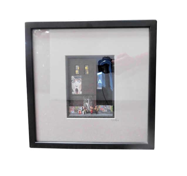 "C. Schukow, ""Bar Sign"" Diorama, 13x3x13h  CX006"