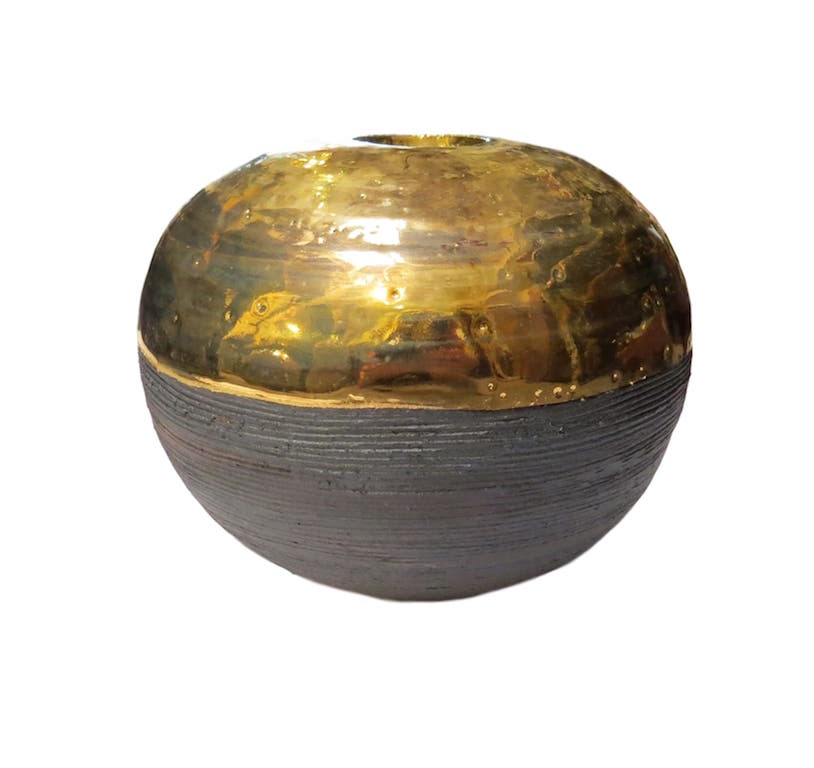Tatiana, Ball Vessel, Gold  6dx6h  TA0657