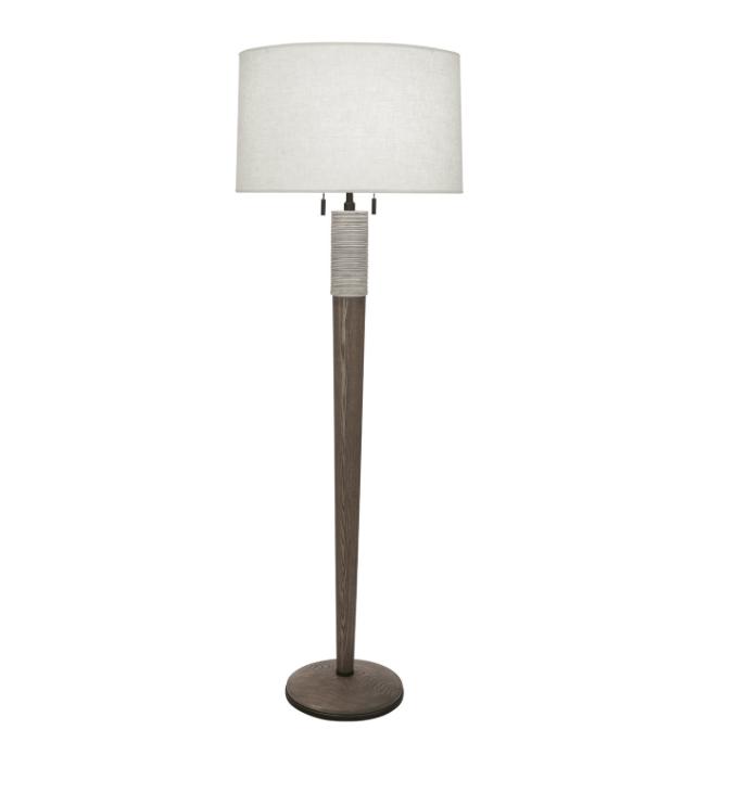 Berkley Floor Lamp, Wood/Ceramic  21dx63.5h  RA573W