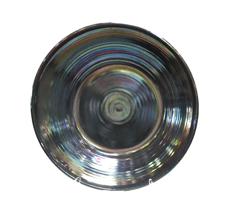 Ceramic Low Bowl, Petrol Pearly Luster  24dx4h  EU9660PP
