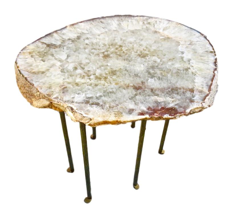 Agate/6 Textured Skinny Leg Table  24x22x23h  VO526AA