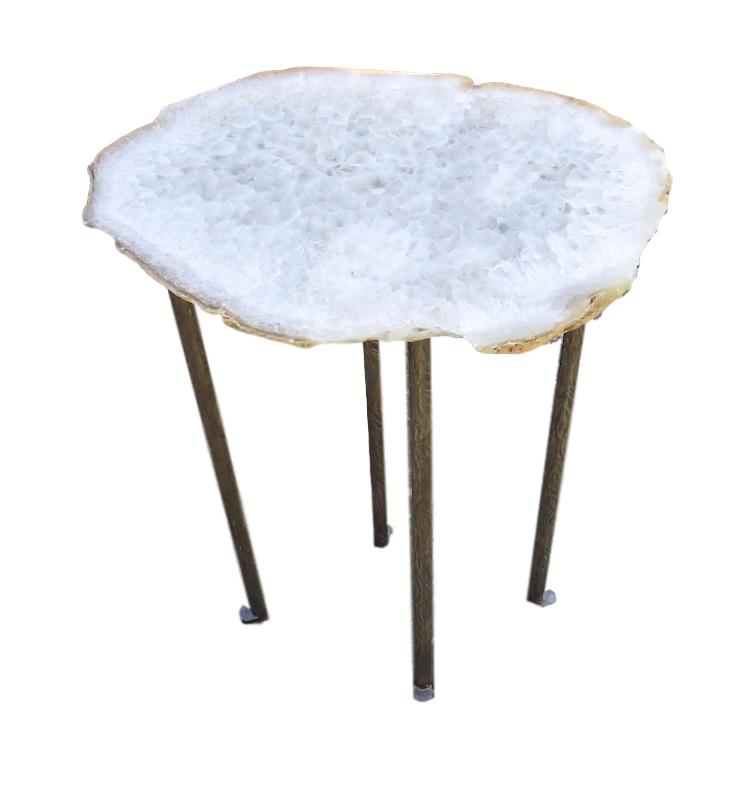 Agate/4 Textured Skinny Leg Table  16x12x23  VO472AA