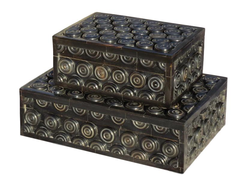 Black Bone Coin Box  7.5x5.5x3h  BIJ424S  Black Bone Coin Box  10.5x7.5x3h  BIJ424L