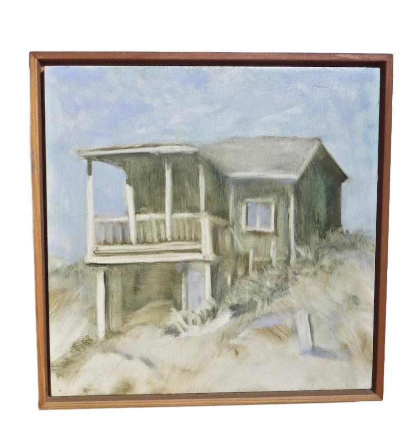 N. Crawford, House Study #2, Oil/Board  12x12
