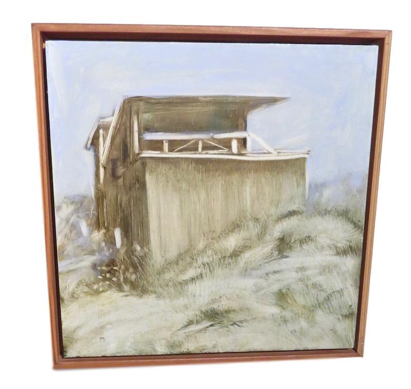 N. Crawford, House Study #3, Oil/Board  12x12
