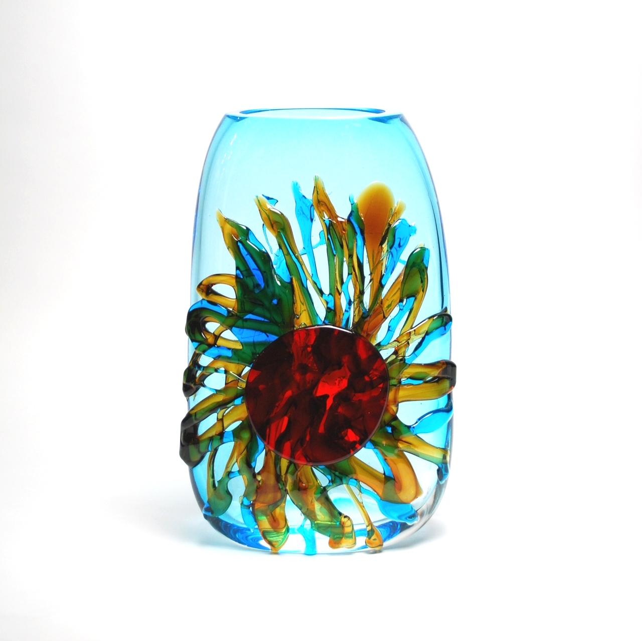 Murano Tall Sun Vase   8x4x17h  MB19141