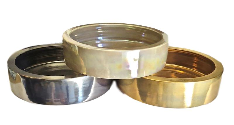Ceramic Low Bowl Large   14dx3.5h   Platinum  EUHS1102P,  Macchiato EUHS1102M,  Gold EUHS1102G