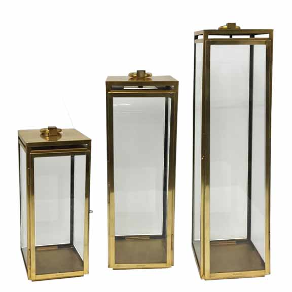 Bungalow Lantern, Stainless, Gold  7x24h  CT814844  7x30h  CT814845