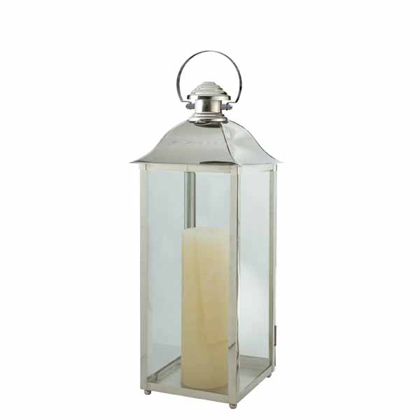 Charleston Lantern, , Stainless, Polished Nickel  10x30h  CT814414
