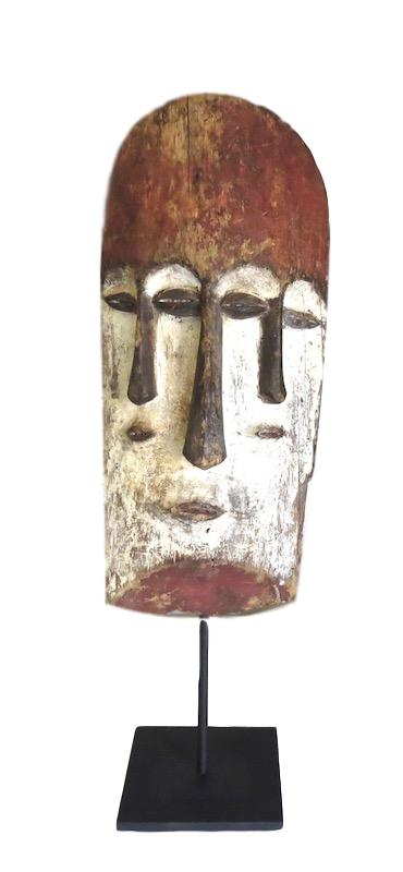Vintage Fang Mask Gabon/Iron Stand, Africa   8x7x16h    AF222AA